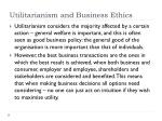 utilitarianism and business ethics