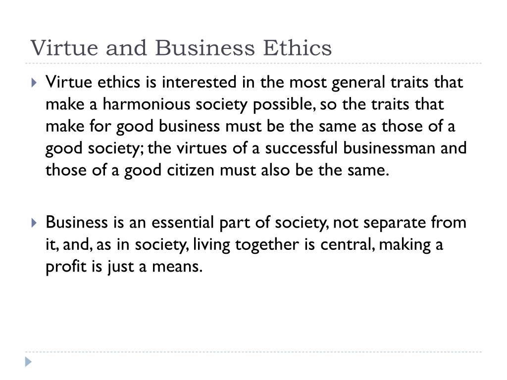 business and virtue ethics Business ethics - ebook download as epub (epub), text file (txt) or read book online.