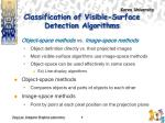 classification of visible surface detection algorithms