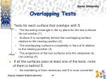 overlapping tests