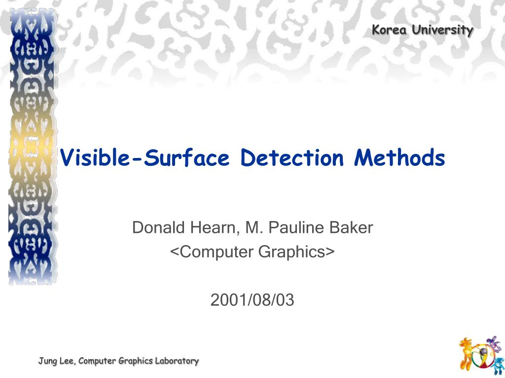 visible surface detection methods l.