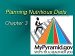 planning nutritious diets chapter 3