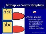bitmap vs vector graphics