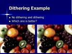 dithering example