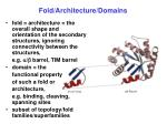 fold architecture domains