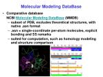 molecular modeling database