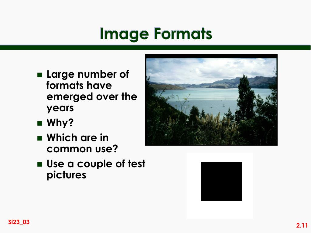 Large number of formats have emerged over the years