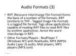 audio formats 3