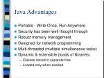 java advantages