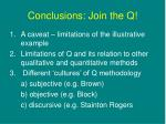 conclusions join the q