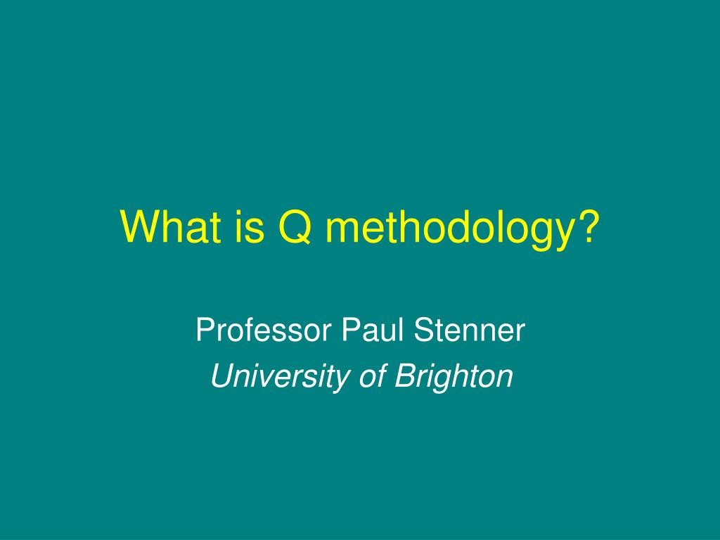 what is q methodology l.