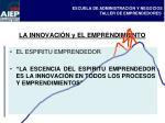 la innovaci n y el emprendimiento
