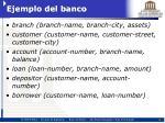 ejemplo del banco