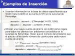 ejemplos de inserci n