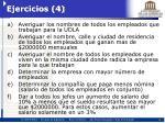 ejercicios 4