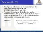intersecci n