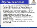 lgebra relacional