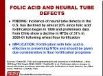 folic acid and neural tube defects