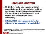 iron and growth