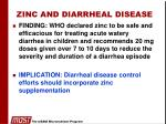 zinc and diarrheal disease
