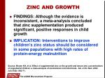 zinc and growth