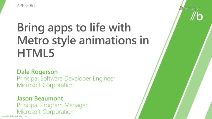 bring apps to life with metro style animations in html5 n.