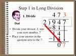 step 1 in long division2