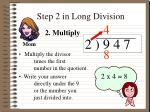 step 2 in long division