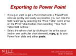 exporting to power point