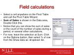 field calculations