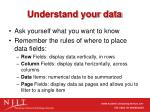understand your data