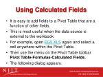 using calculated fields
