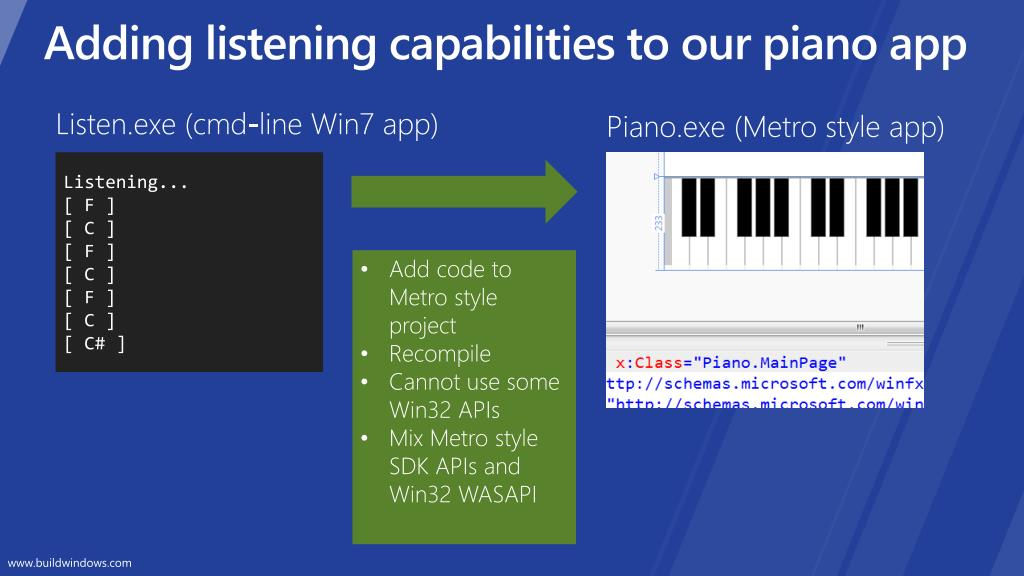 Adding listening capabilities to our piano app