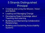 5 strands distinguished principal