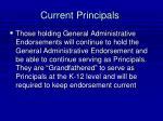 current principals