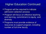 higher education continued40