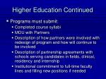 higher education continued41