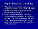 higher education continued42