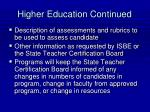 higher education continued43