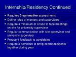 internship residency continued23