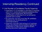 internship residency continued25