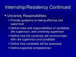 internship residency continued35
