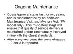 ongoing maintenance