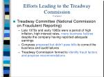efforts leading to the treadway commission continued2