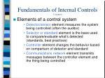 fundamentals of internal controls continued