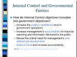 internal control and governmental entities