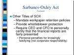 sarbanes oxley act continued7