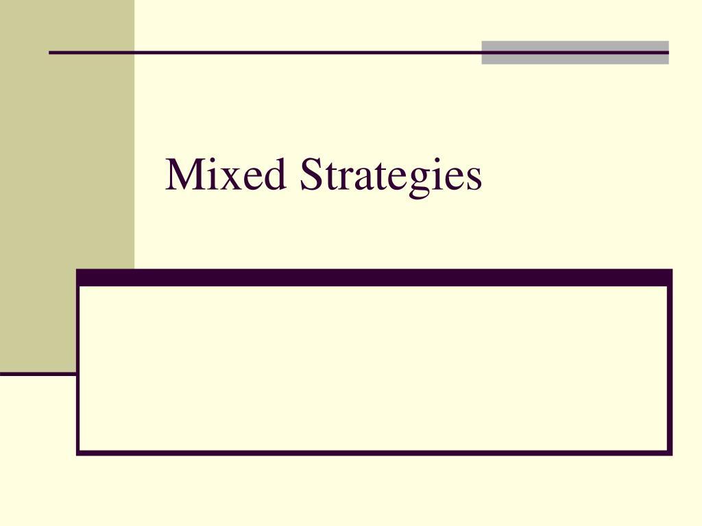 mixed strategies l.