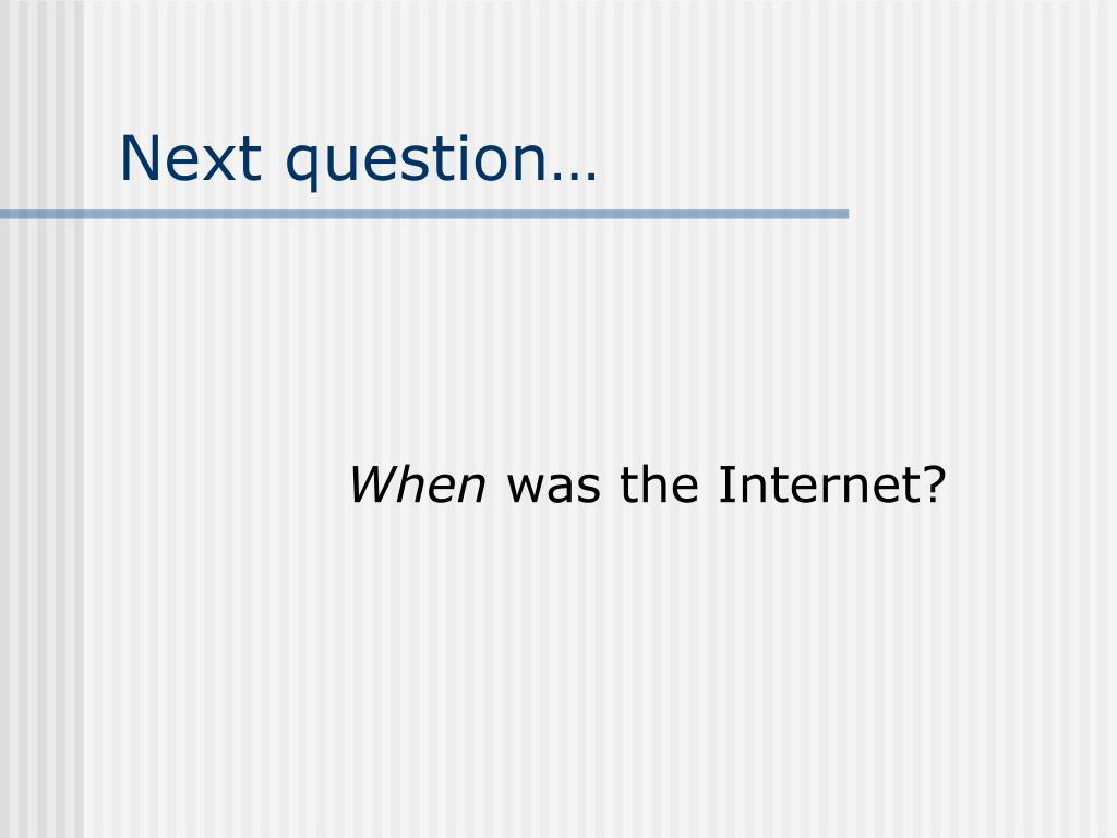 Next question…