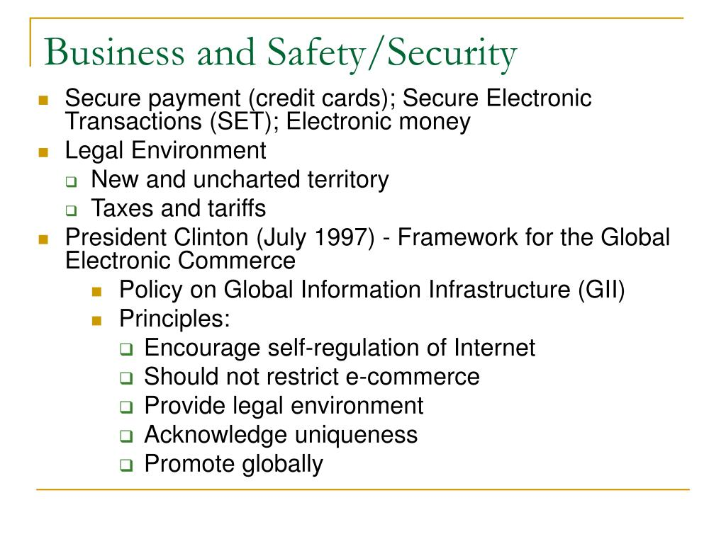 Business and Safety/Security